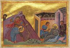 Romanus_of_caesarea_(menologion_of_basil_ii)