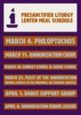 Presanctified Liturgy: Lenten Meal Schedule